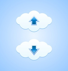 Up and down clouds vector image