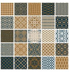 Vintage tiles seamless patterns vector image vector image