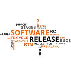 word cloud - software release vector image vector image