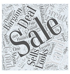 Yard sales word cloud concept vector