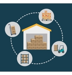 Box package delivery shipping icon graphic vector