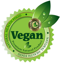 Vegan label vector
