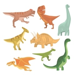 Dinosaurs of jurassic period collection of vector