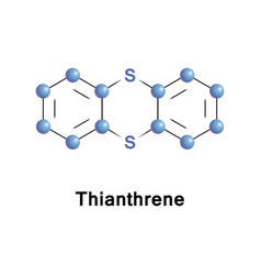 thianthrene is a sulfur-containing heterocycles vector image