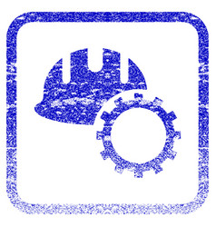 Development hardhat framed textured icon vector