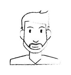 Blurred silhouette half body man bearded vector
