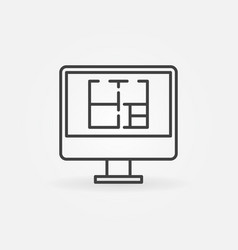House plan on display icon vector
