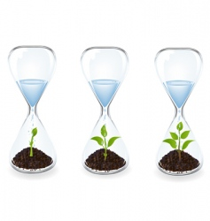 glass clocks vector image