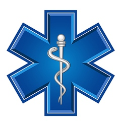 emergency symbol vector image