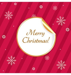 Label Merry Christmas vector image