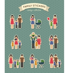 Set of color family icons vector image