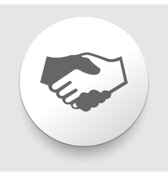 Handshake icon - business concept vector