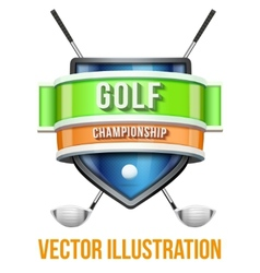 Label for golf sport competition bright premium vector