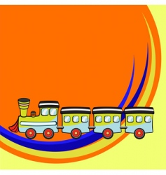 funny train vector image