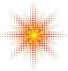 Halftone sun vector