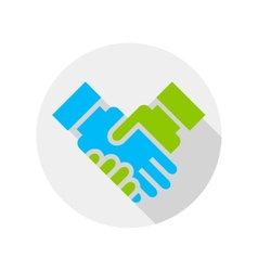 Handshake icon flat design vector