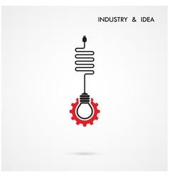Creative light bulb and gear abstract desig vector