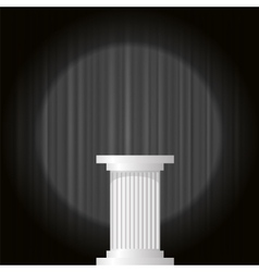 White marble greek column vector