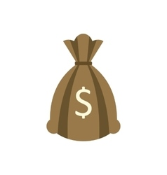 Money bag or sack flat icon vector