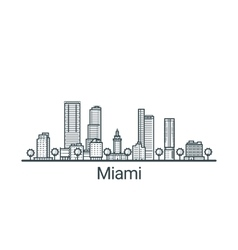 Outline miami banner vector