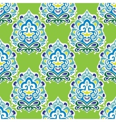 Damask green abstract seamless pattern vector