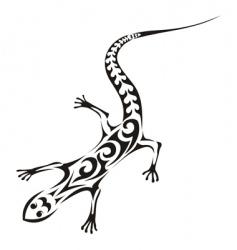 tribal lizard tattoo vector image