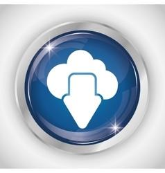 Cloud button icon social media design vector