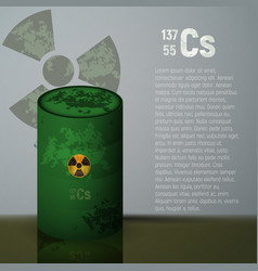 a barrel of toxic radioactive waste container vector image
