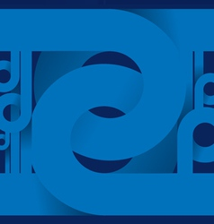 Abstract Blue Spiral Background vector image