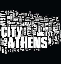 athens hotel guide text background word cloud vector image vector image