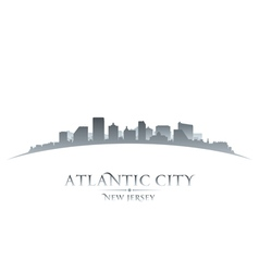 Atlantic city New Jersey skyline silhouette vector image vector image