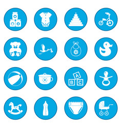 Baby icon blue vector