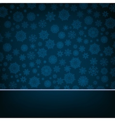 Blue christmas card Pattern on blue EPS 8 vector image vector image