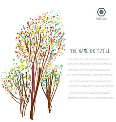 Business background with abstract trees and layout vector image