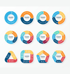 Circle arrows infographics diagram graph vector