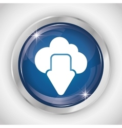 Cloud button icon social media design vector