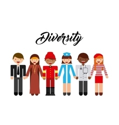Diversity people design vector