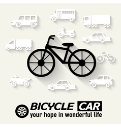 Flat bike background concept tamplate for web and vector