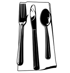 fork knife spoon vector image