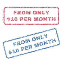 from only dollar 10 per month textile stamps vector image vector image