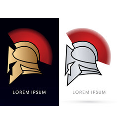 God and silver roman or greek helmet vector