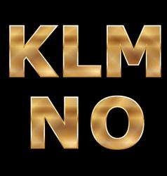 Gold letters set K-O vector image