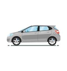 Hatchback citycar isolated on white background vector image