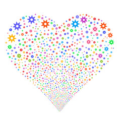 new fireworks heart vector image vector image