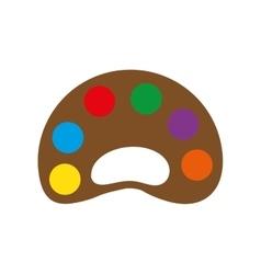 Palette colors instrument school paint icon vector