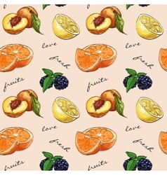 Pattern fresh fruit vector image vector image