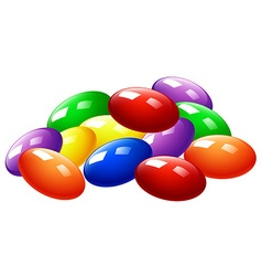 Pile of colorful candy vector