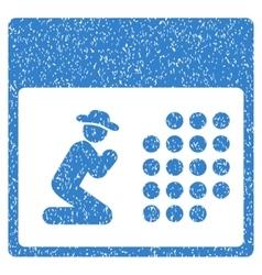 Pray calendar grainy texture icon vector