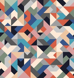 Retro colored seamless geometric background vector image vector image