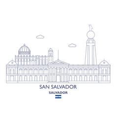 San salvador city skyline vector